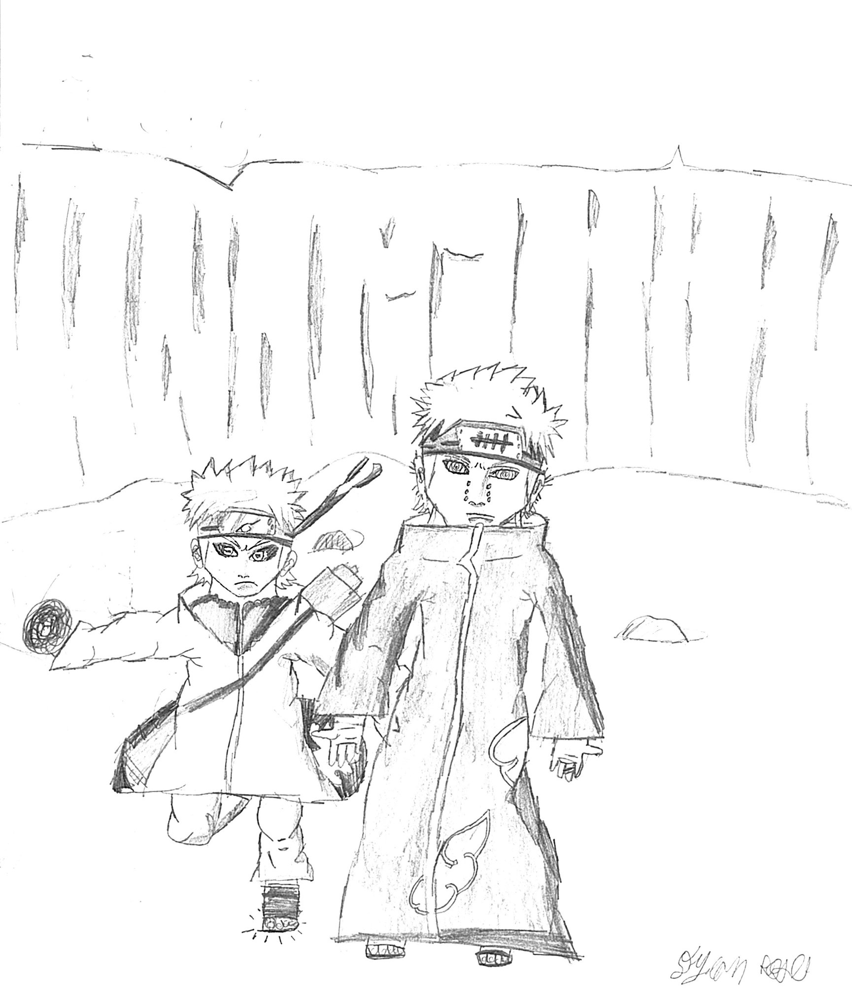 1729x2024 Naruto Pein Drawing By Nvrgiveuphope