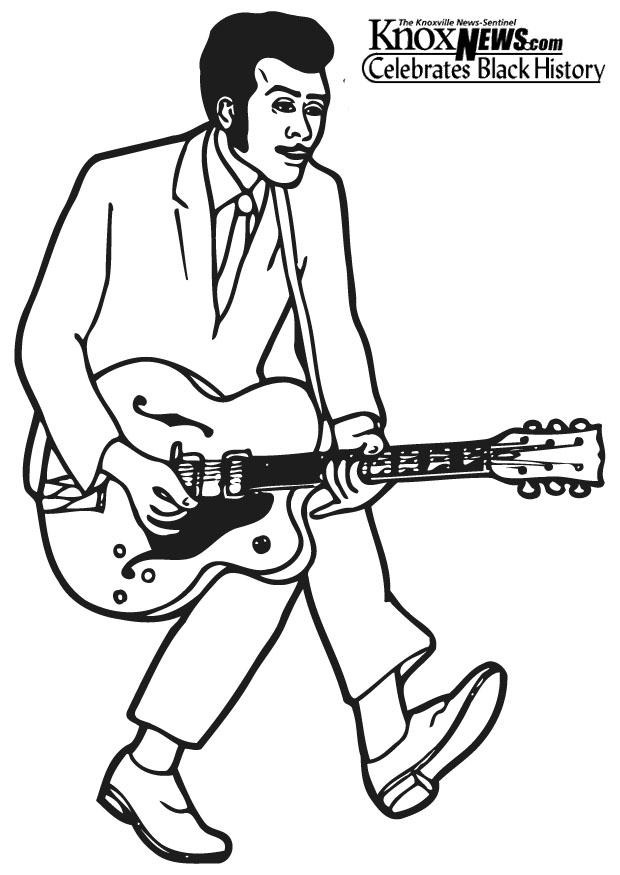 620x875 Coloring Page Chuck Berry