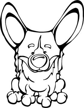 280x359 Pembroke Welsh Corgi Decal Dog Angry Squirrel Studio