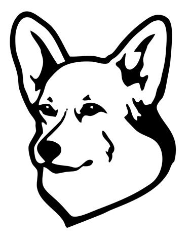 373x480 Pembroke Welsh Corgi Decal Sticker