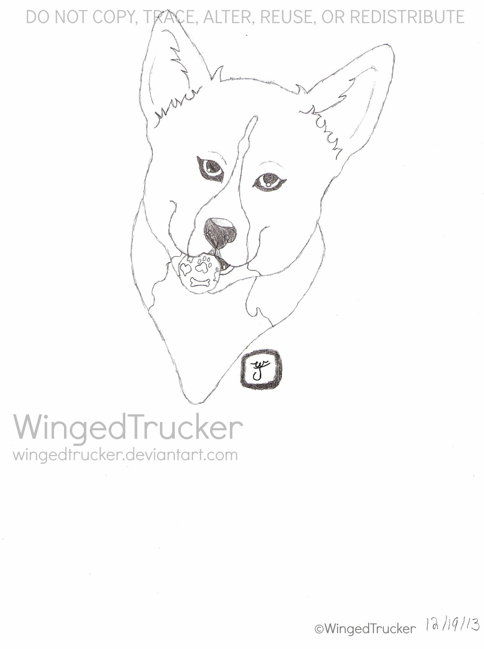 1661x2228 Pembroke Welsh Corgi Sketch Commission~chloe Weasyl