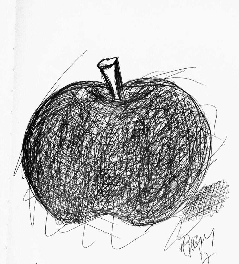 916x1012 Art Drawing Apple Pen And Ink Art Apple Pen, Art