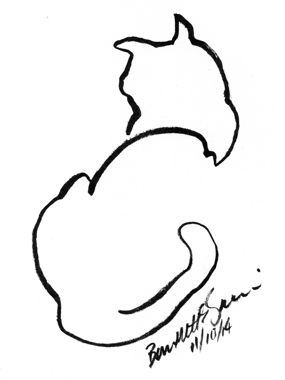1000x1332 Daily Sketch Back To Front ~ The Creative Cat