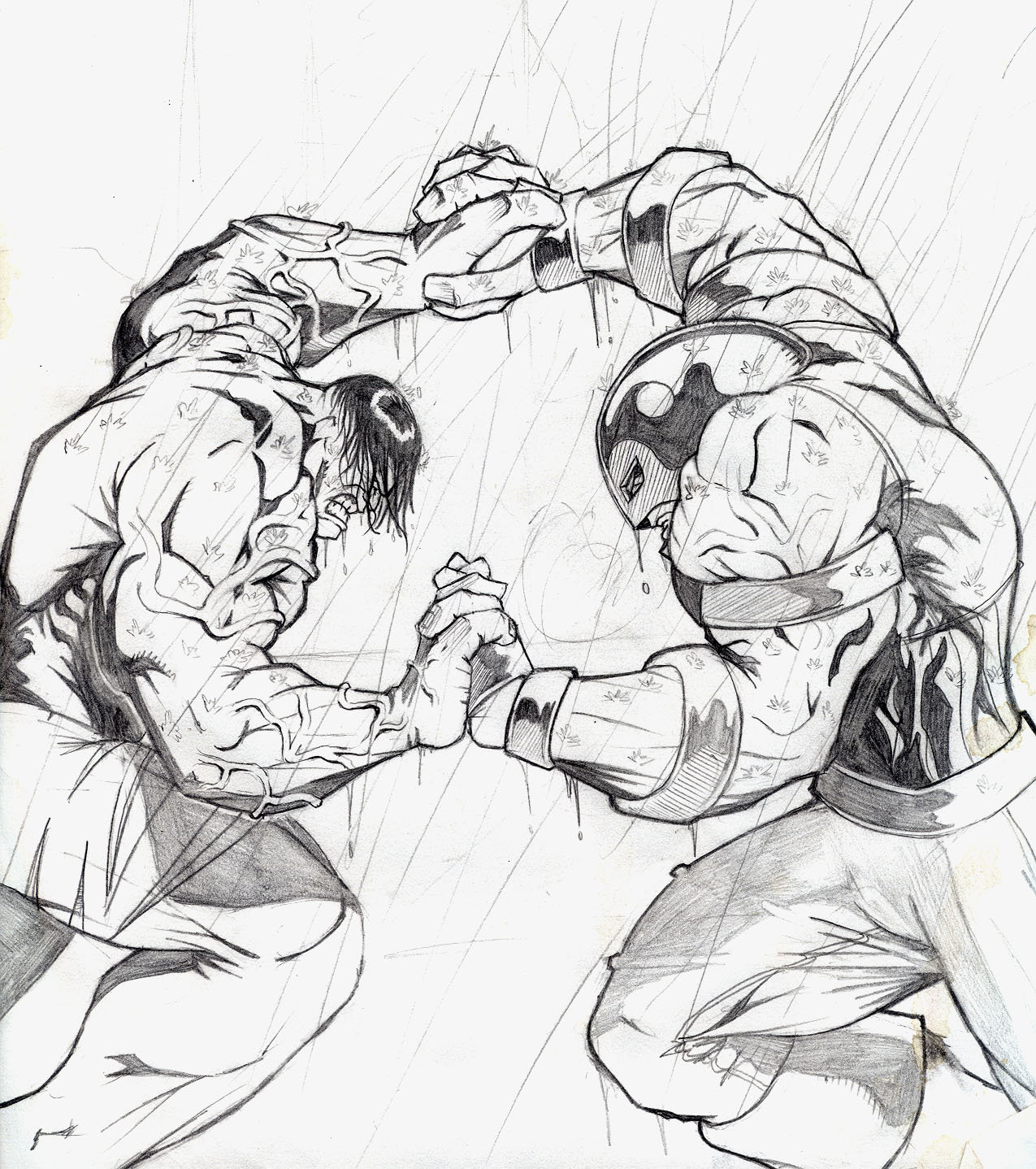 1275x1438 hulk v juggernaut 1st pencils by evaklear