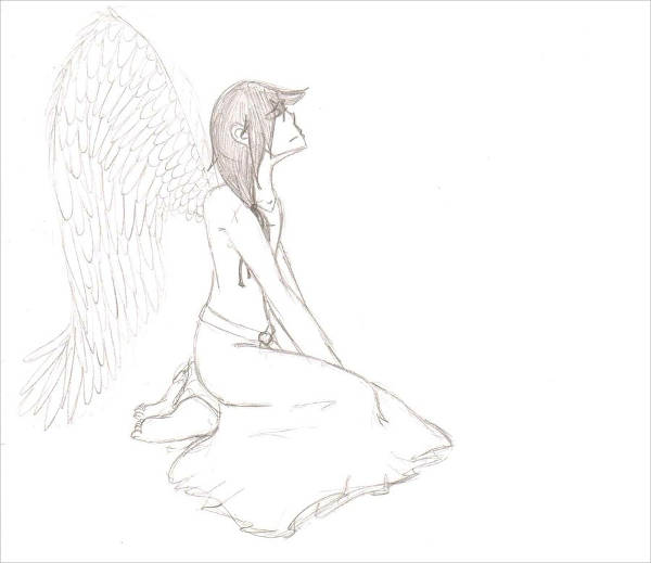 Pencil Angel Drawing