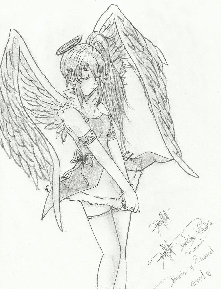900x1176 Anime Angel Drawings Drawn Anime Angel