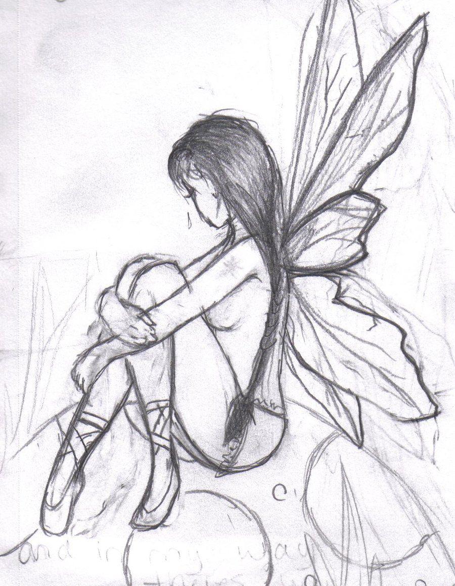 900x1159 Dark Fairy Drawings Easy