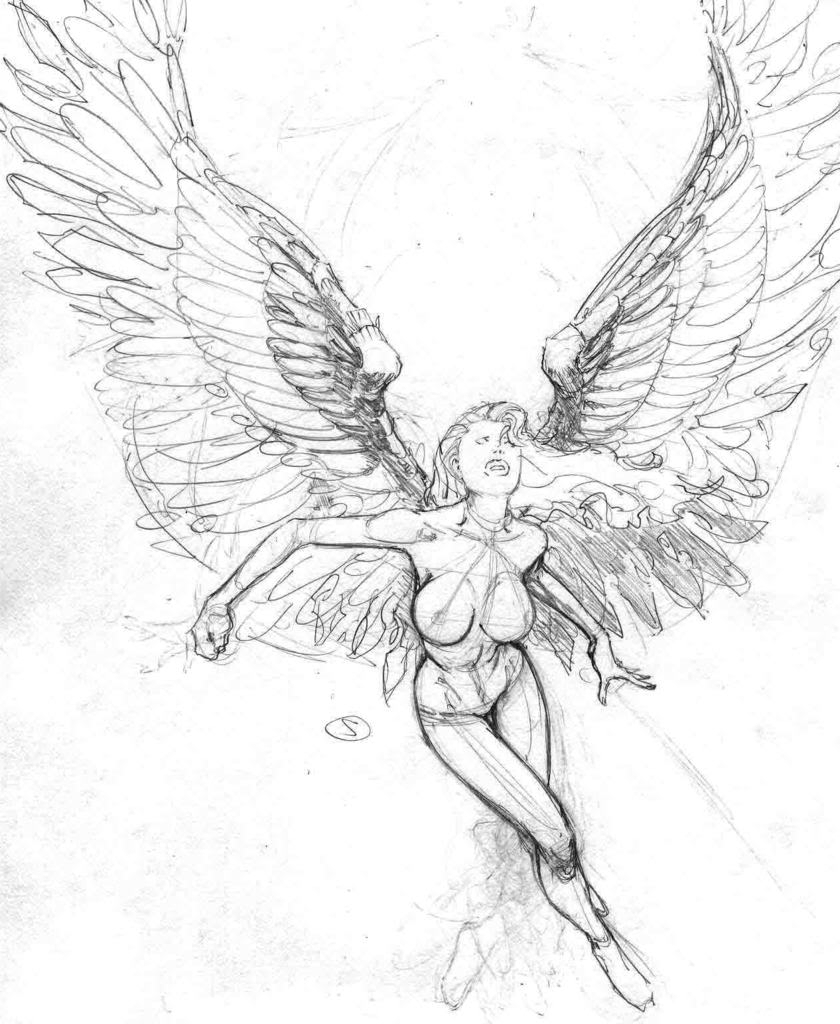 840x1024 Angel Drawings Sketches