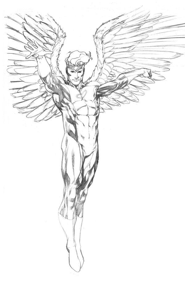 600x916 Angel Sotd Pencils By Robertatkins On Lineart Angel