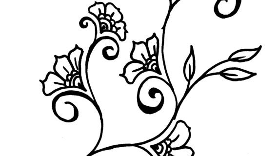 570x320 Simple Flower Designs For Pencil Drawing Vines Flowers Design