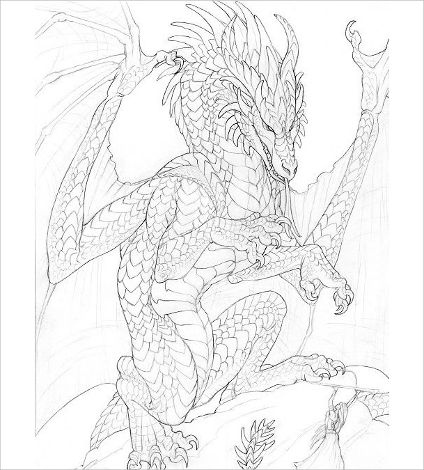Pencil Dragon Drawing