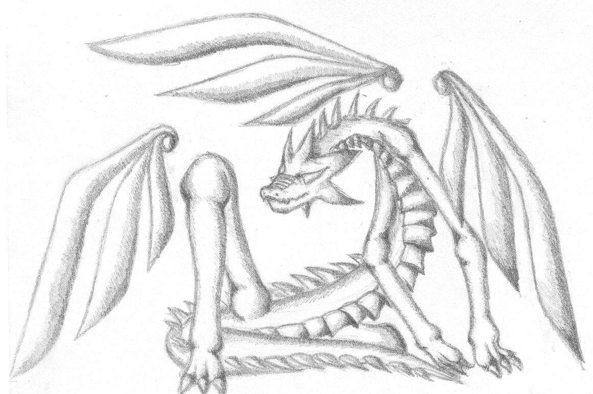 1160x771 Dragon Pencil Sketch By Shahtrughna