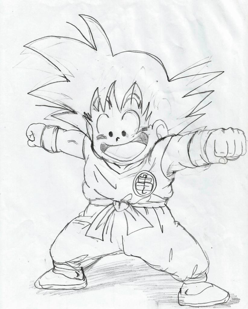 822x1024 Dragon Ball Drawings Dragon Ball Z Drawings In Pencil Dragon Ball