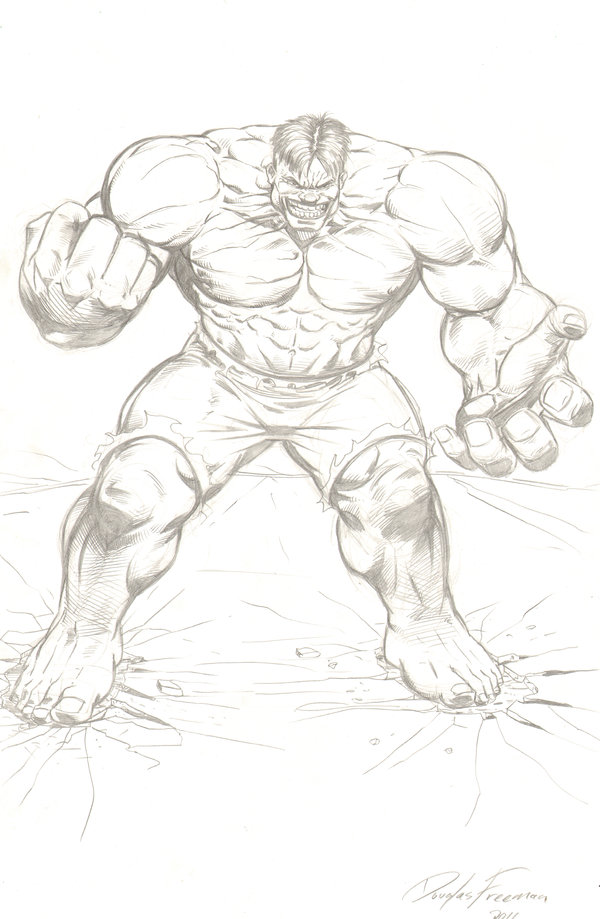 600x919 Incredible Hulk Pencil Sketch By Rnabrandent