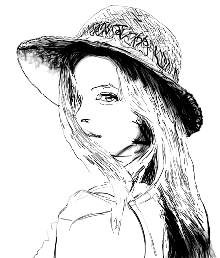 450x527 Pencil Drawing Effect Parameters in AKVIS Draw