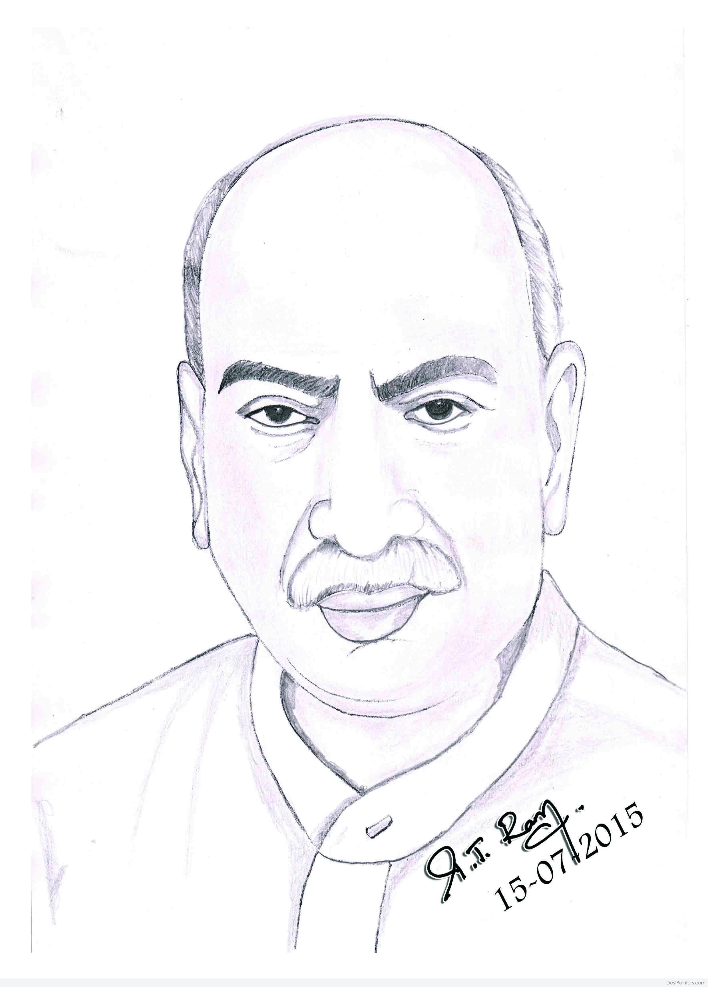 2480x3455 Pencil Sketch Of Kamarajar