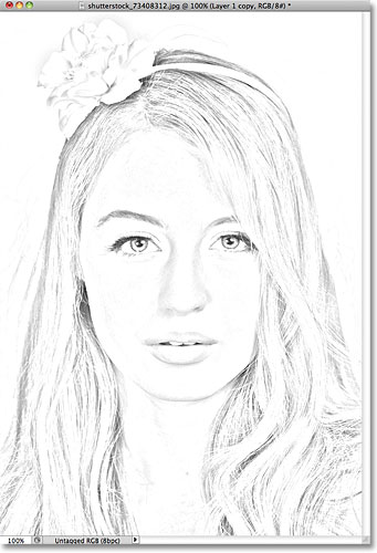 341x500 Portrait Photo To Color Sketch