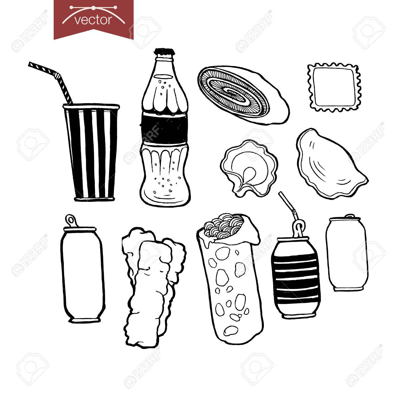 1300x1300 Engraving Vintage Hand Drawn Restaurant Menu Food Doodle Collage