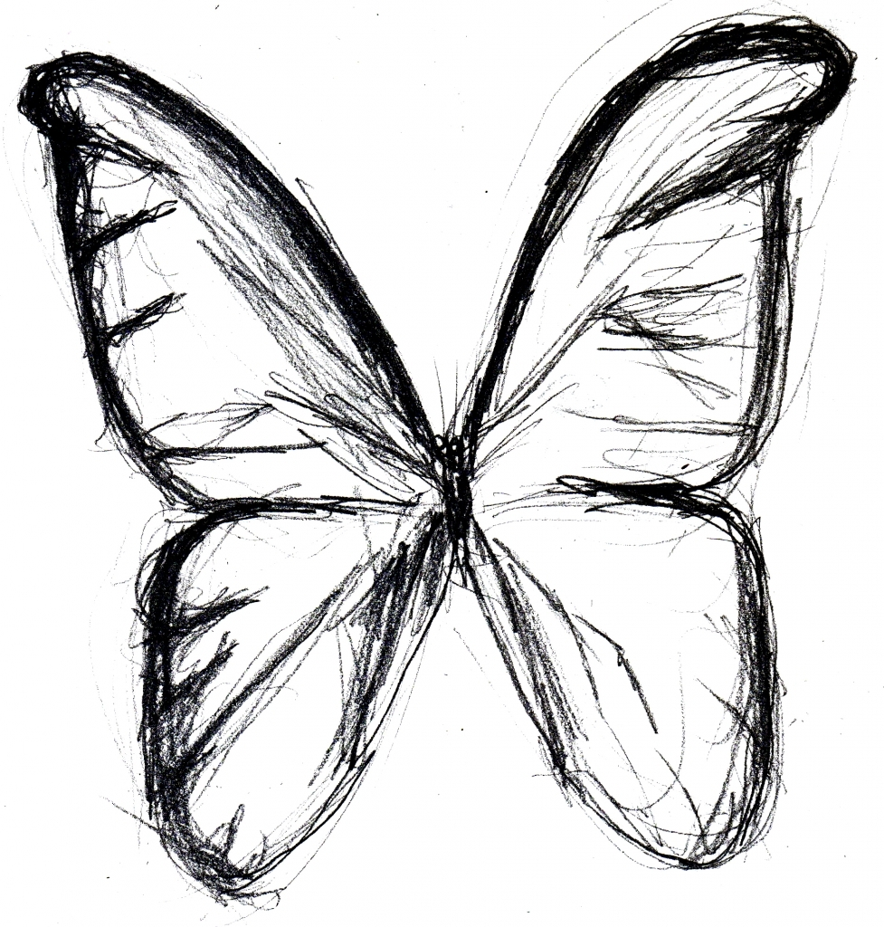 977x1024 Sketches Of Butterflies Butterfly Drawings In Pencil Clipart Best
