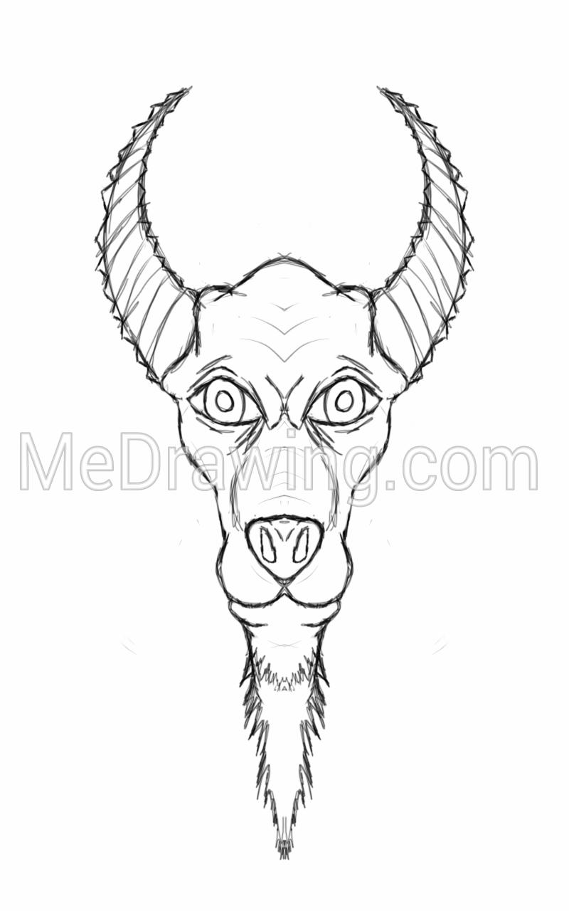 800x1280 Devil Dog Pencil Sketch