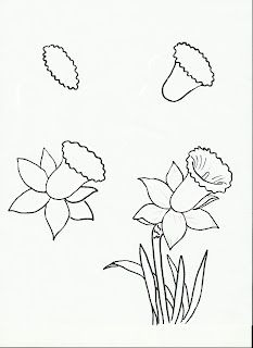 233x320 How Draw Daffodils With Daffodil Drawing Lessons Learn