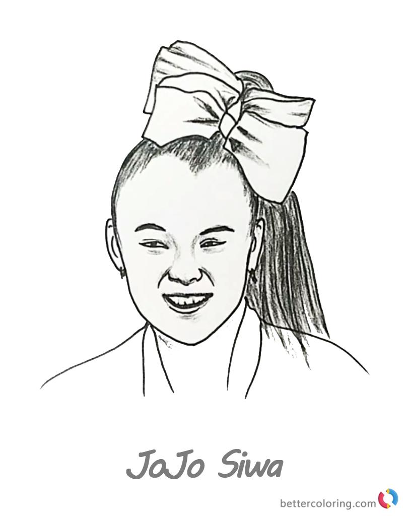 800x1024 Jojo Siwa Coloring Pages Pencil Drawing