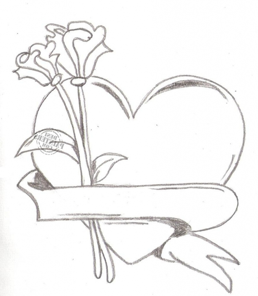 892x1024 Pencil Sketch Of Heart