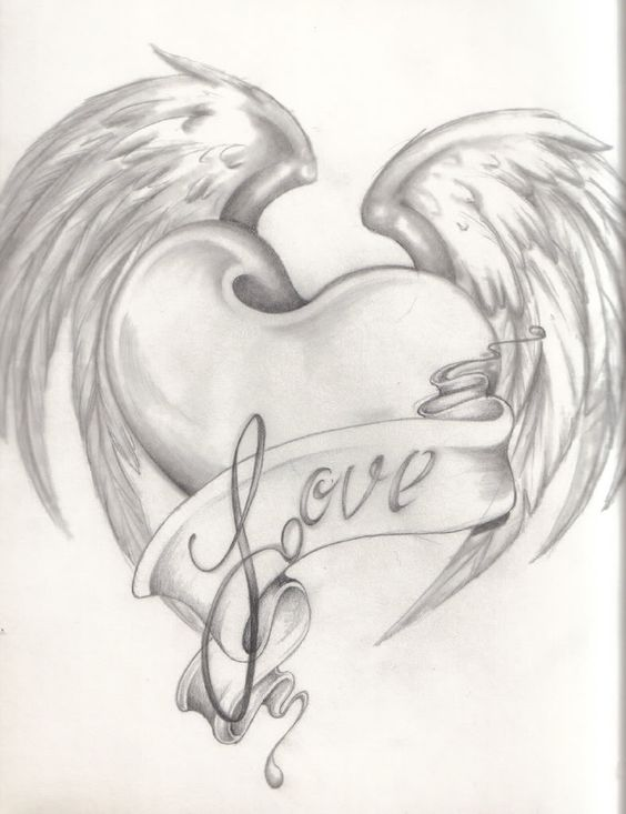564x733 Heart And Rose Drawings In Pencil Picture Cute Drawings Of Hearts