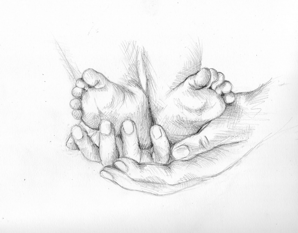 1024x800 Baby Drawing In Pencil Sketch Baby Pencil Drawings Pencil Drawing