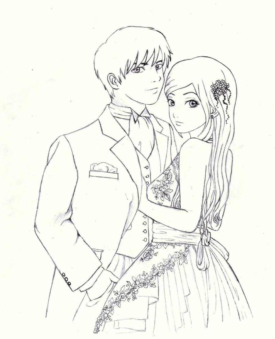 900x1111 Cute Couple Pencil Colored Sketches Cute Couple Color Pencil