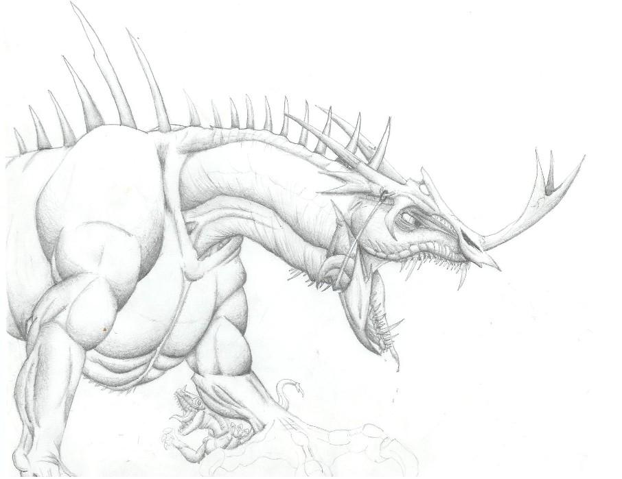 Pencil Drawing Of A Dragon at GetDrawings | Free download