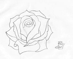 236x193 rose pencil sketch 4 Rose drawings, Sketches and Drawings
