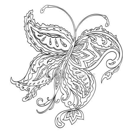 450x450 Butterfly Pencil Drawing Stock Photo Oksana