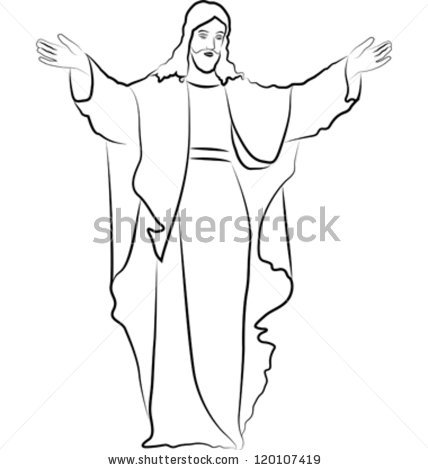428x470 gallery easy drawings of jesus christ