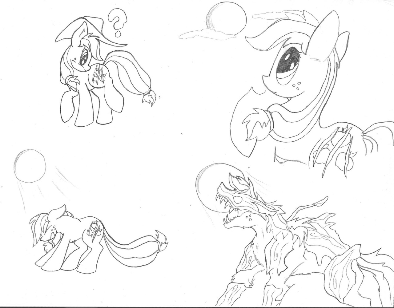 1280x1002 Pencil Sketch Pictures Of Werewolf Transformation 927336