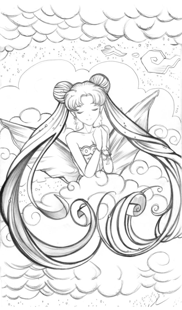 600x1018 Sailor Moon Sketch By X Jazzy B Real X