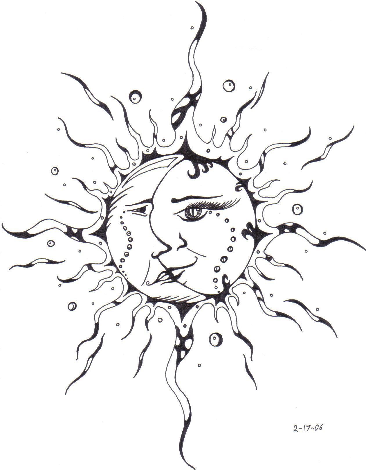 1261x1617 Sun Kissing The Moon Drawing Moon And Sun Drawing Pencil Tattoos
