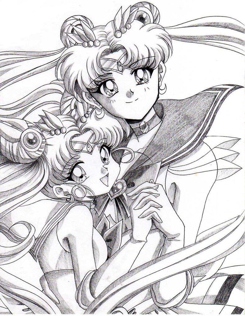788x1014 Sailor Moon And Daughter By Rurutia8
