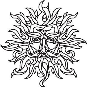 299x300 Sun God Drawings For Painting Or Embroidery