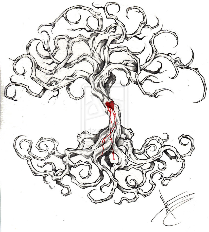 848x943 Tattoo Stencil And Pencil Drawings And Sketches Tree Of Life