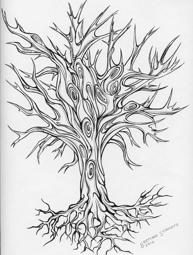 660x870 25 Beautiful Tree Drawing Examples From Around The World