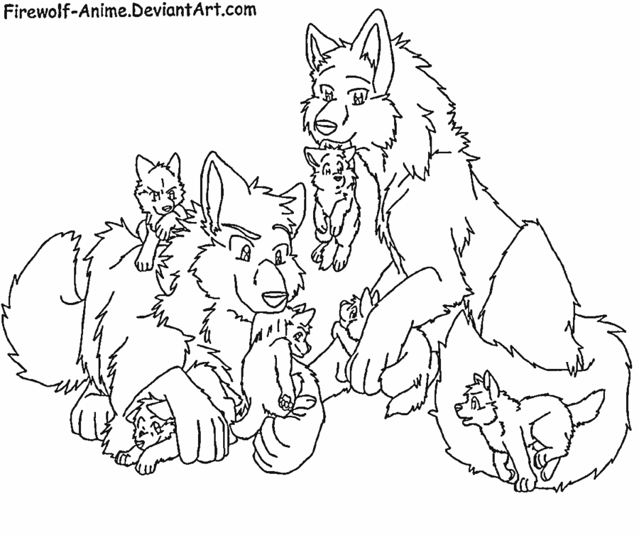 900x754 Cute Wolf Family Anime Wolves Wolf, Anime Wolf