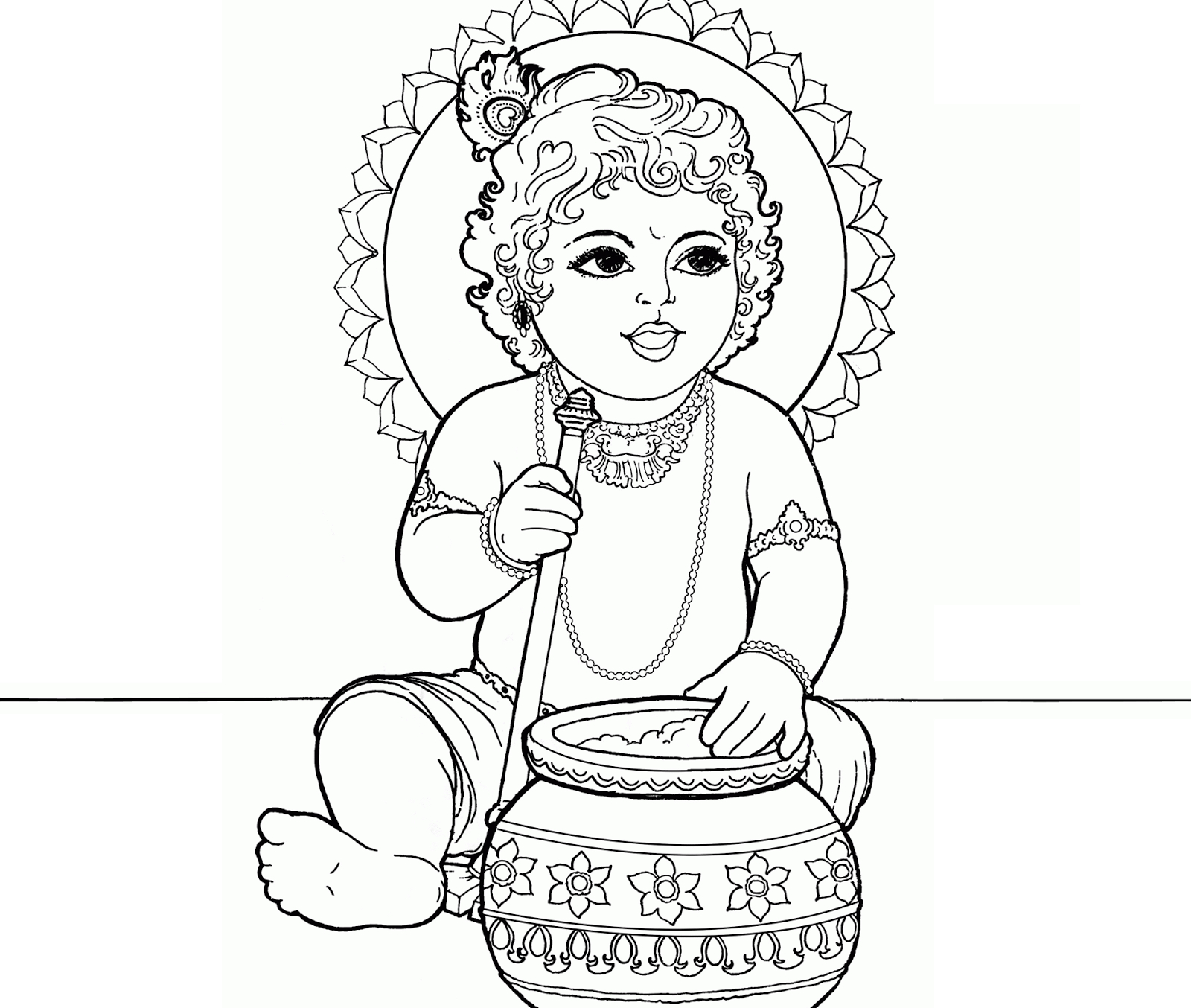 1600x1354 Baby Krishna Pencil Drawing Lord Baby Krishna Pencil Drawing Image