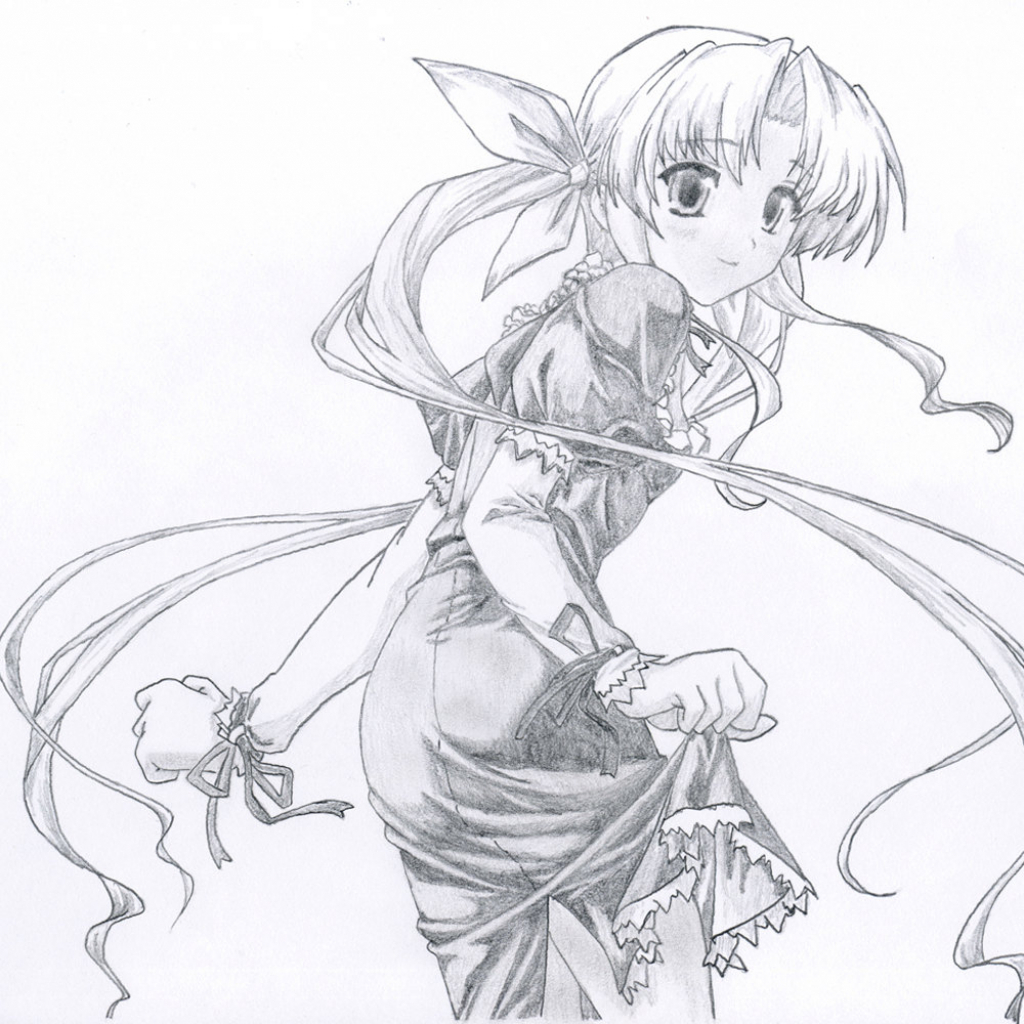 1024x1024 Cool Anime Drawings In Pencil Free Download Cool Anime Drawings