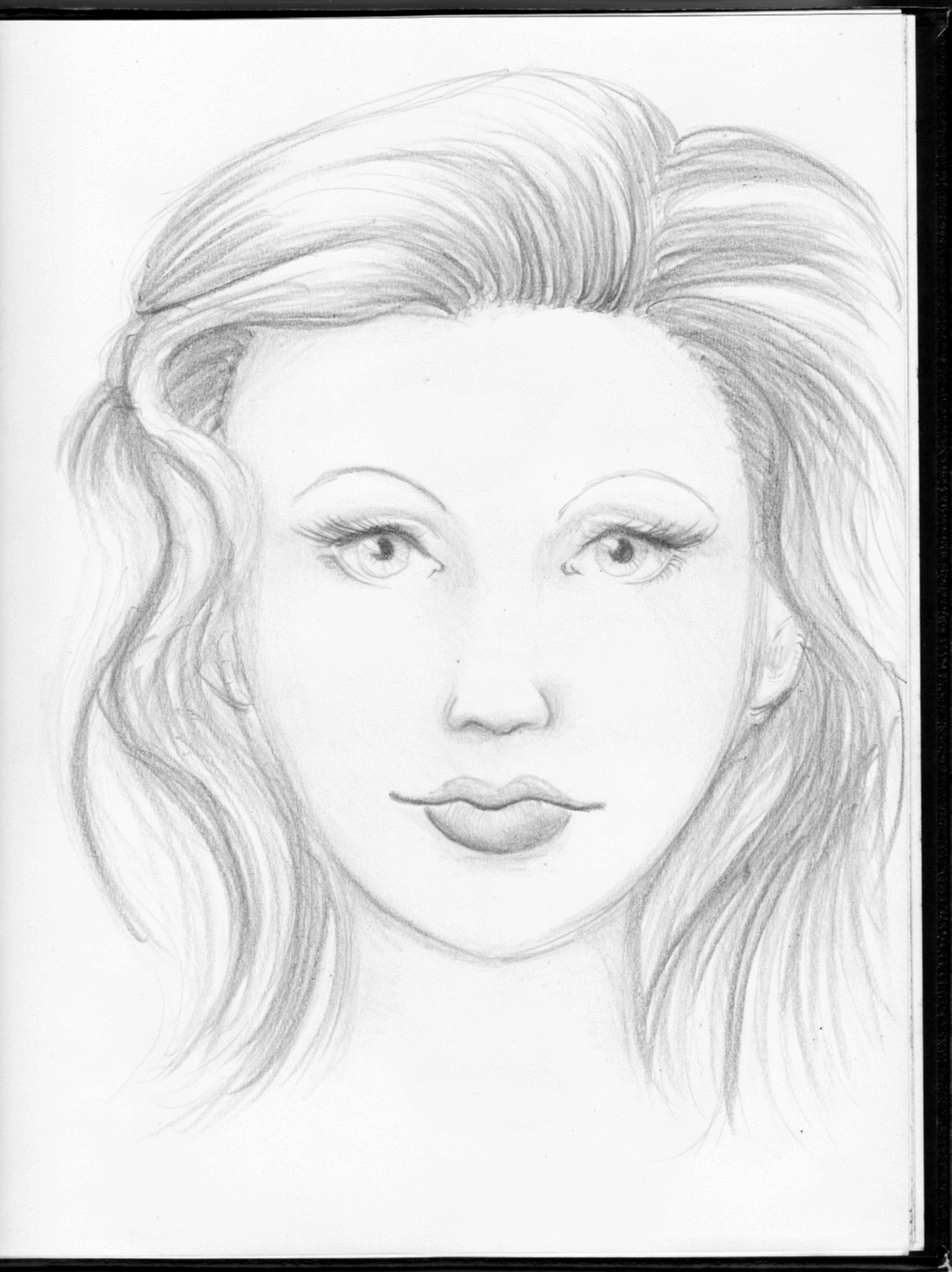 2548x3404 Face Easy Sketches Pencil Shade How To Draw Anime Faces In Pencil