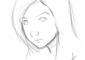 300x210 Simple Face Sketches Photos Face Simple For Drawing,