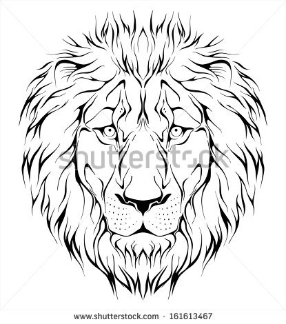 415x470 Photos Lion Face Outline Drawing,