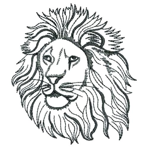 500x500 Lion Drawing Outline