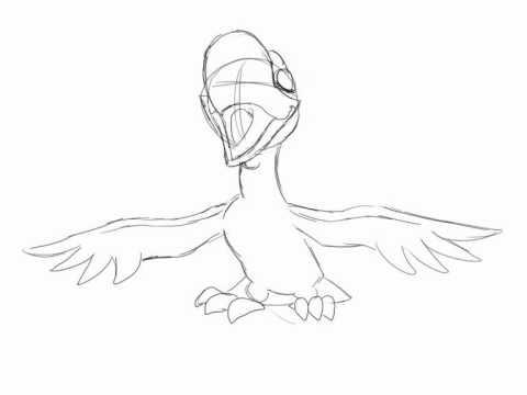 480x360 Hallelujah~! Bird Lip Sync Pencil Test