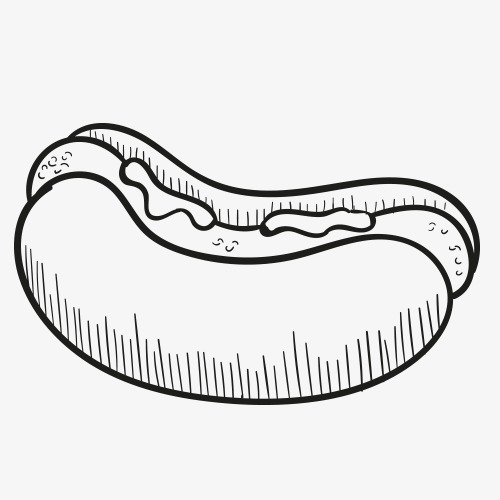 500x500 Pencil Drawing,food,hamburger,hot Dog,fast Food,calorie Foods,high